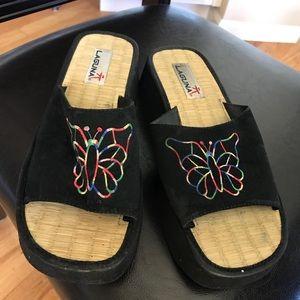 Cute Black Butterfly Sandals